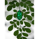 MORINGA LEAF WITH EMERALD- CUFF LINKS AND JEWELRY