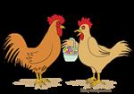 Funny Chicken Easter Egg Hunt Cartoon
