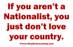 Proud to be a Nationalist