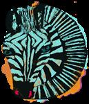 Zebra in Blue