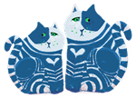 Two Blue Striped Cats