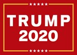 Trump 2020 Sign - Red