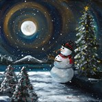 Snowman and the Moon