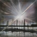 Sunrise Harbor Sepia