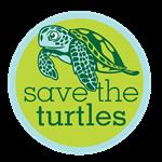 SAVE THE TURTLES GREEN LOGO
