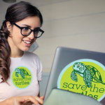 SAVE THE TURTLES GREEN LOGO