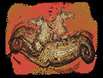 Roman Mosaic Seahorses