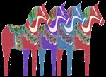 Four Dala Horses