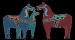 Whimsy Scandinavian Dala Horses
