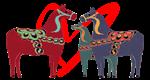 Dala Horses with Heart