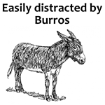 Easily Distracted by Burros