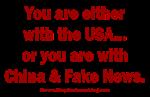 With the USA OR China & Fake News