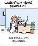Work-from-Home Unproductive Meetings