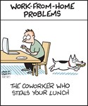 Work-from-Home Worker Steals Lunch