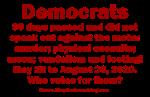 Ineligible Democrat Candidates