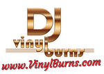 DJ Vinyl Burns Logo