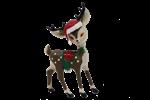 Vintage toy reindeer Christmas design