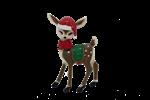 Female reindeer cute Christmas image