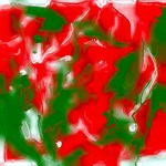 Red, White and Green Abstract