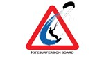 Kitesurfers on board