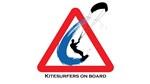 Kitesurfers on board