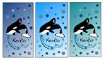 Colorful Keiko in Bubbles