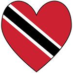 Flag of Trinidad & Tobago Heart Valentine