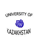 UNIVERSITY OF KAZAKHSTAN BLU