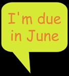 I'm due in June (voice bubble)