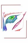 Alien Half Face Design
