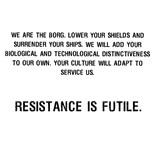 Resistance Futile