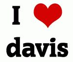 I Love davis