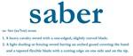 Saber Definition