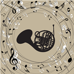 FUNNY FRENCH HORN Buttons