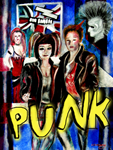 stationery , jewellery , misc with punk art