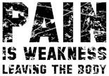 Pain Weakness Leaving Body