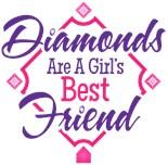 Diamonds Girls Best Friend Baseball