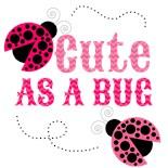 1St Bday Pink Lady Bug