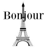 Eiffel Tower Black White