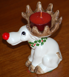 Cute Retro Reindeer Candle