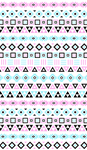 Aztec Influence III Black White Pink Blue