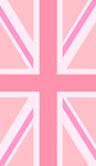 Union Jack Flag Pinks