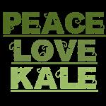 Peace Love Kale T-Shirts