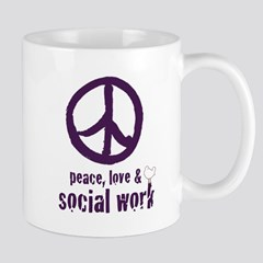 Peace Love Amp Social Work By Admin Store Cafepress
