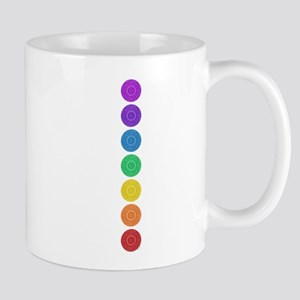 seven chakras vertical center Mug