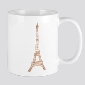 Rose Gold Paris Eiffel tower Mugs