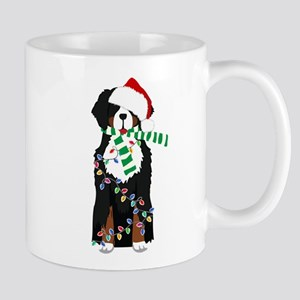 Christmas Bernese Mt Holiday Dog Mugs