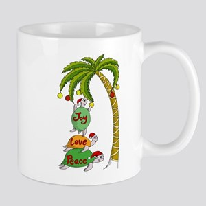 Hawaiian Christmas Santa Turtle Mug