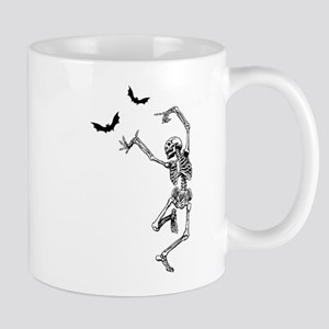 Dancing with the bats -skeleton Mug