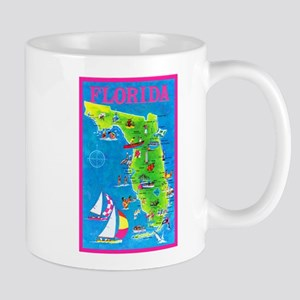 Florida Map Greetings Mug
